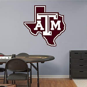 Texas A&M Aggies Lone Star Logo Fathead Wall Decal